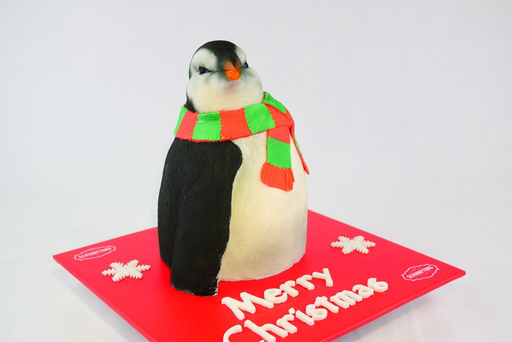 Christmas Penguin Cake 2