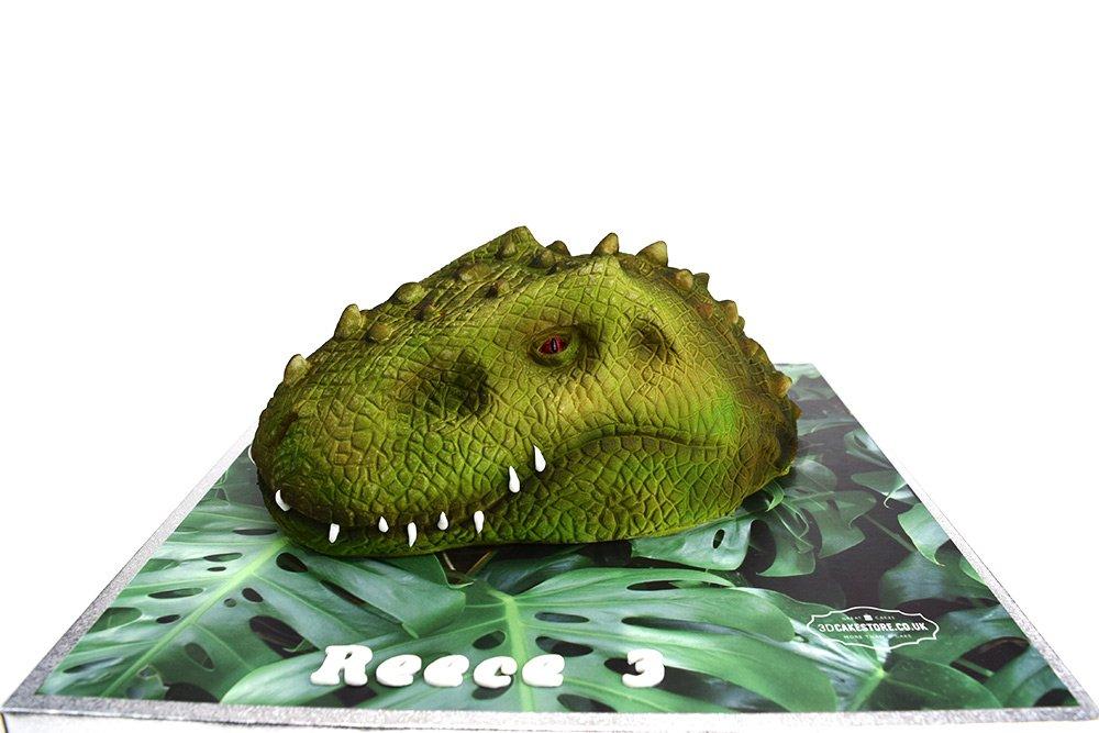 Dinosaur Head Cake