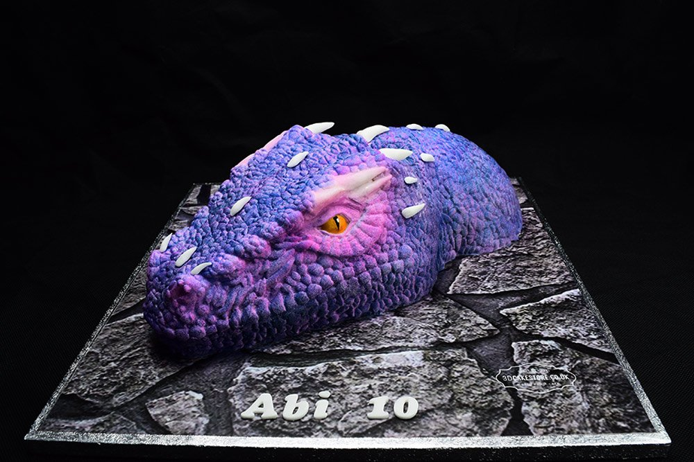 Dragon Cake Pink Purple
