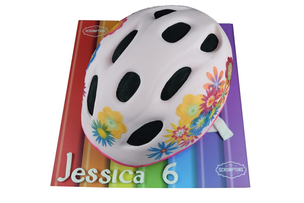 Girls Bike Helmet Cake
