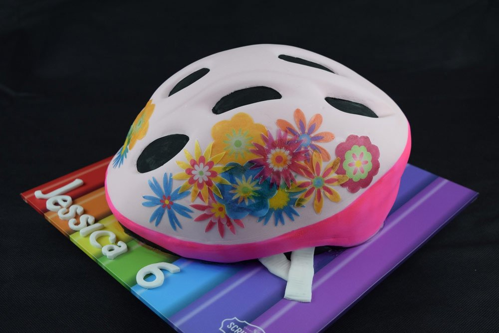 Girls Bike Helmet Cake 2