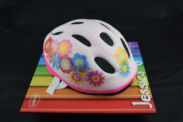 Girls Bike Helmet Cake 3