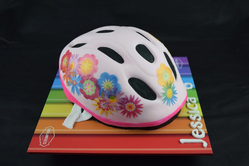 Girls Bike Helmet Cake 3