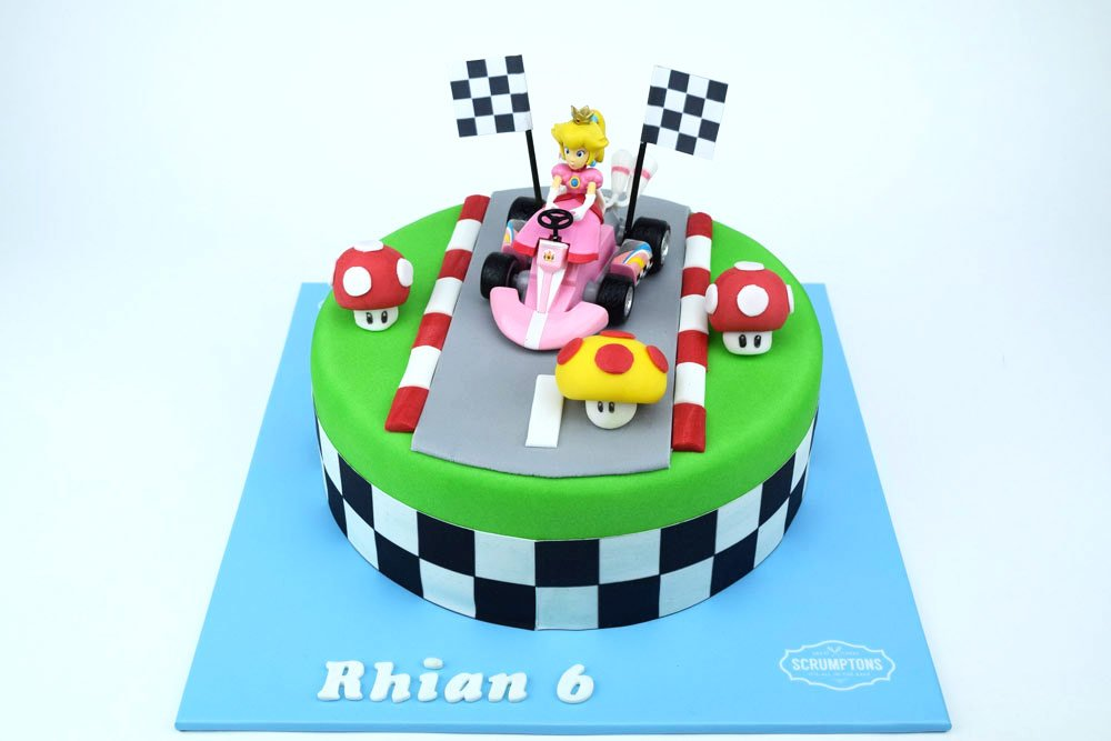 Groovy Princess Peach Super Mario Cake 3D Cake Store Funny Birthday Cards Online Fluifree Goldxyz