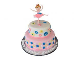Two-Tier-Ballerina-Cake