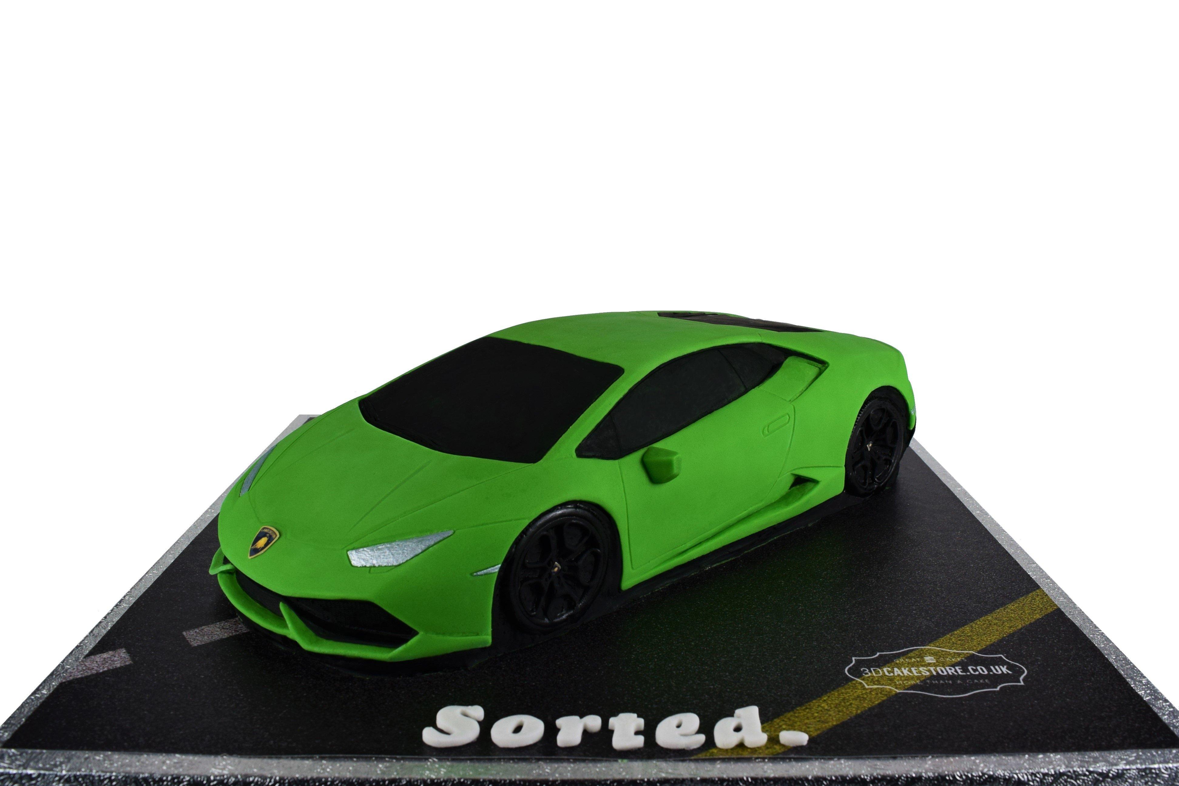Lamborghini Car Cake 3d Cake Store
