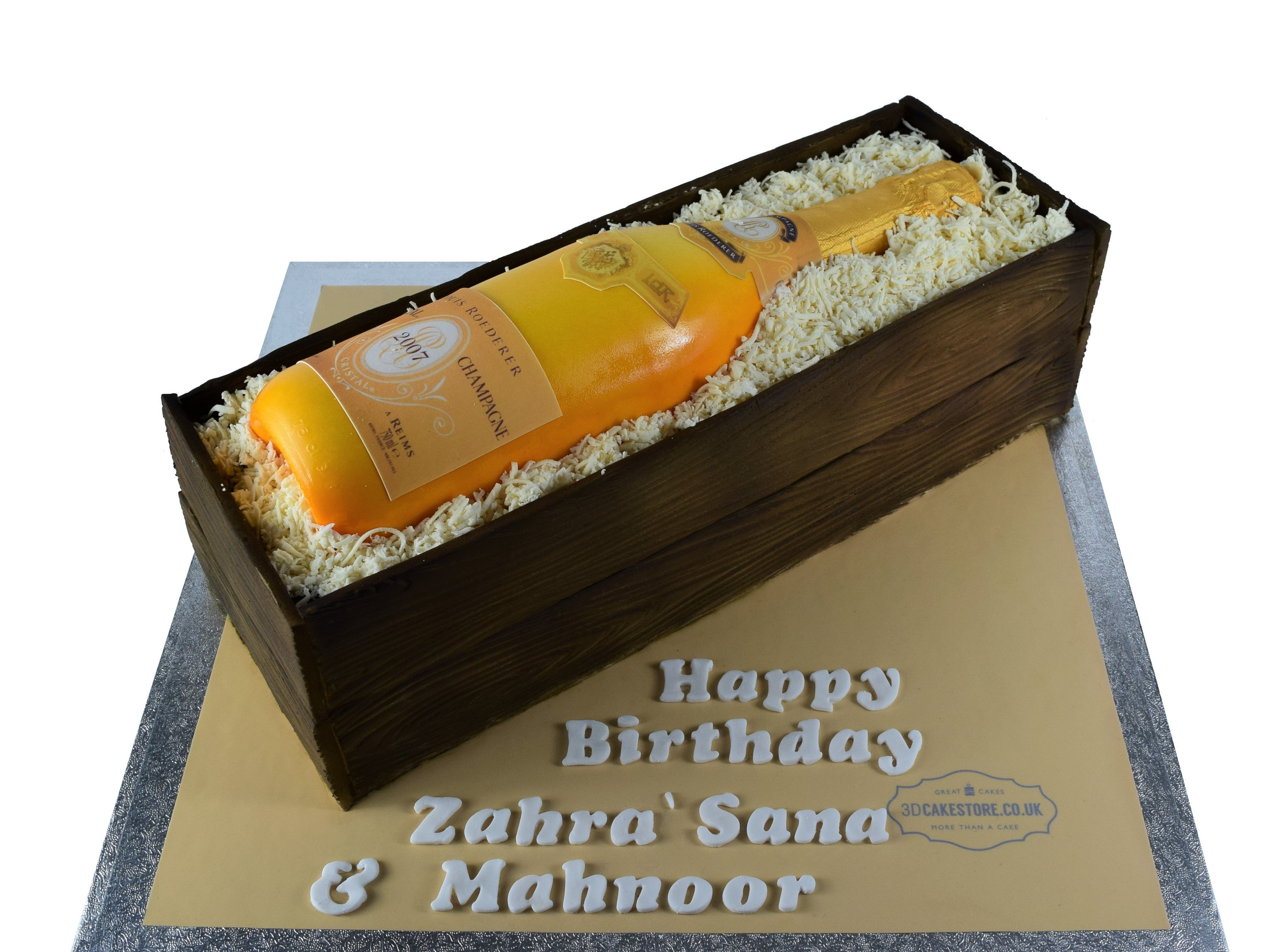 Cool Champagne Bottle Cake 3D Printed Champagne Cake 3D Cake Store Funny Birthday Cards Online Hetedamsfinfo