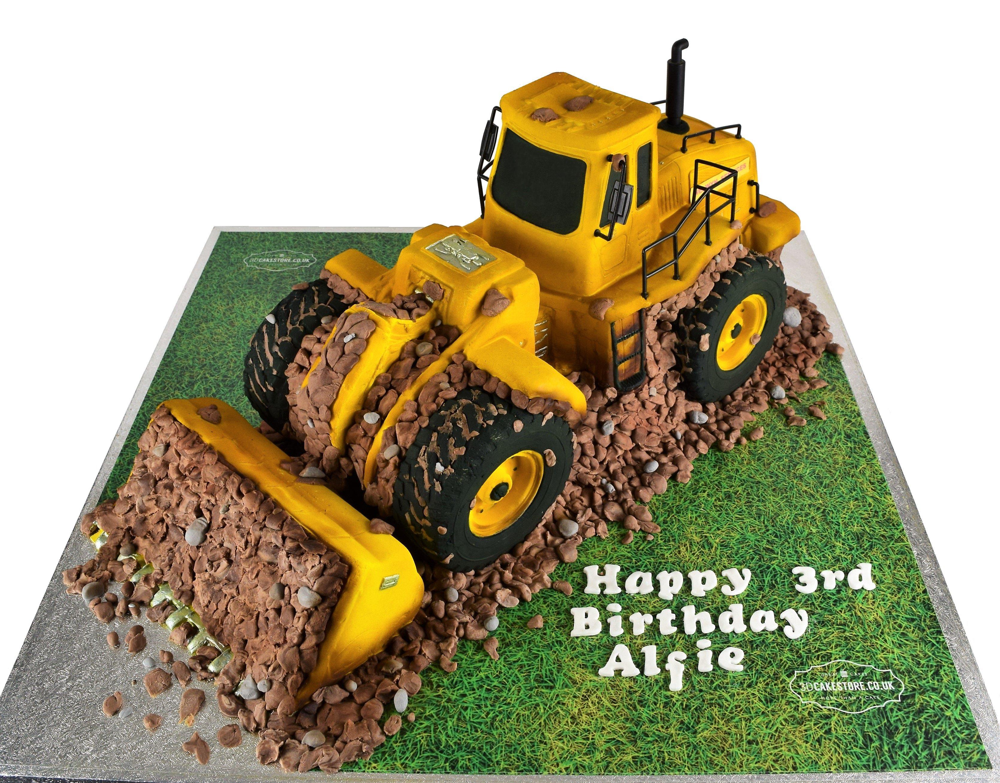 Brilliant 3D Jcb Digger Cake 3D Cake Store 3D Cake Store Funny Birthday Cards Online Necthendildamsfinfo